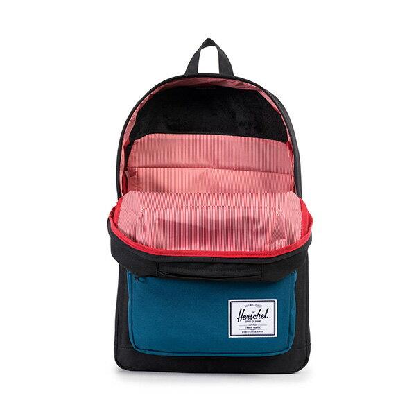 【EST】HERSCHEL POP QUIZ 15吋電腦包 後背包 拚色 黑藍 [HS-0011-869] F1019 1