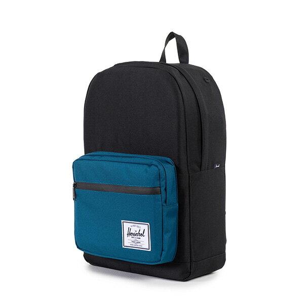 【EST】HERSCHEL POP QUIZ 15吋電腦包 後背包 拚色 黑藍 [HS-0011-869] F1019 2