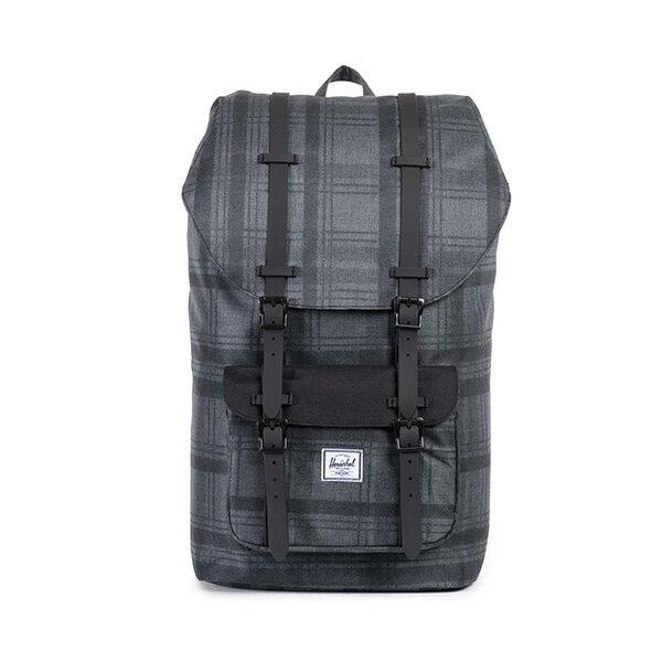 【EST】HERSCHEL LITTLE AMERICA 15吋電腦包 後背包 格紋 黑 [HS-0014-754] F0810 0