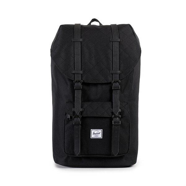 【EST】HERSCHEL LITTLE AMERICA 15吋電腦包 後背包 菱格紋 黑 [HS-0014-866] F1019 0