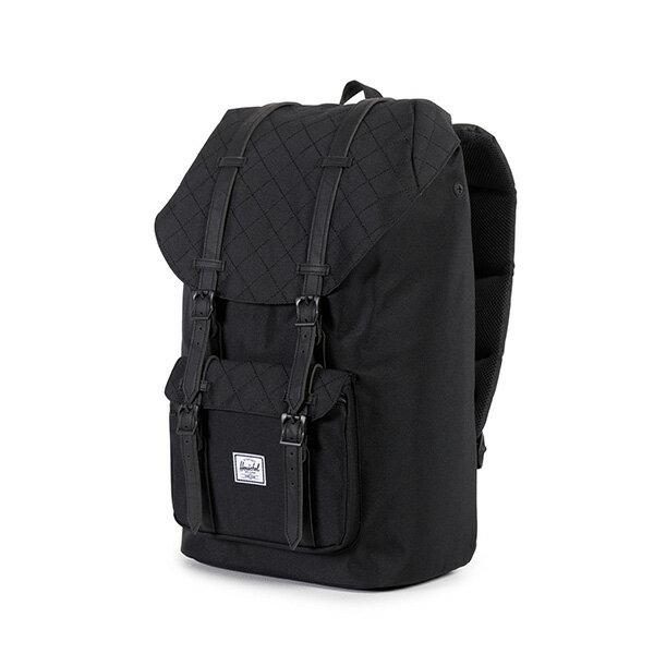 【EST】HERSCHEL LITTLE AMERICA 15吋電腦包 後背包 菱格紋 黑 [HS-0014-866] F1019 2