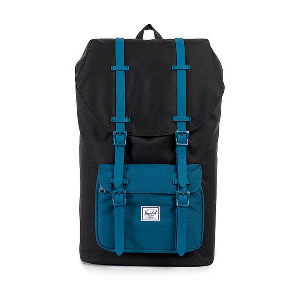 【EST】Herschel Little America 15吋電腦包 後背包 膠條 拚色 黑藍 [HS-0014-869] F1019 0