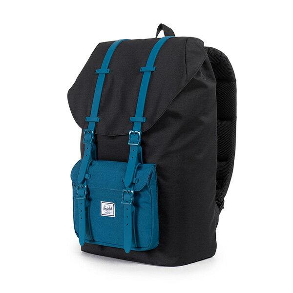 【EST】Herschel Little America 15吋電腦包 後背包 膠條 拚色 黑藍 [HS-0014-869] F1019 2