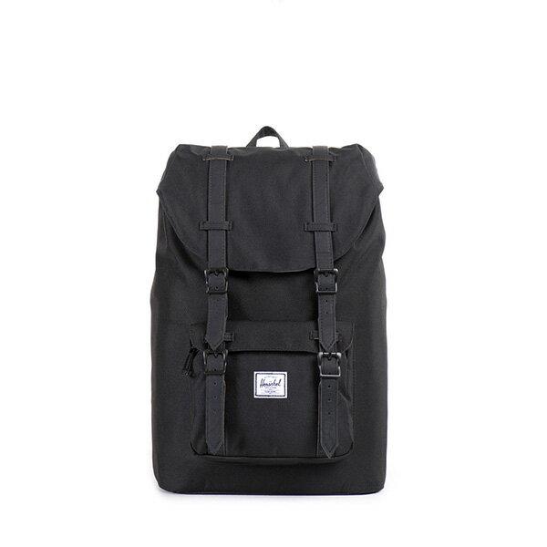 【EST】HERSCHEL LITTLE AMERICA MID 中款 13吋電腦包 後背包 黑 [HS-0020-535] F0810