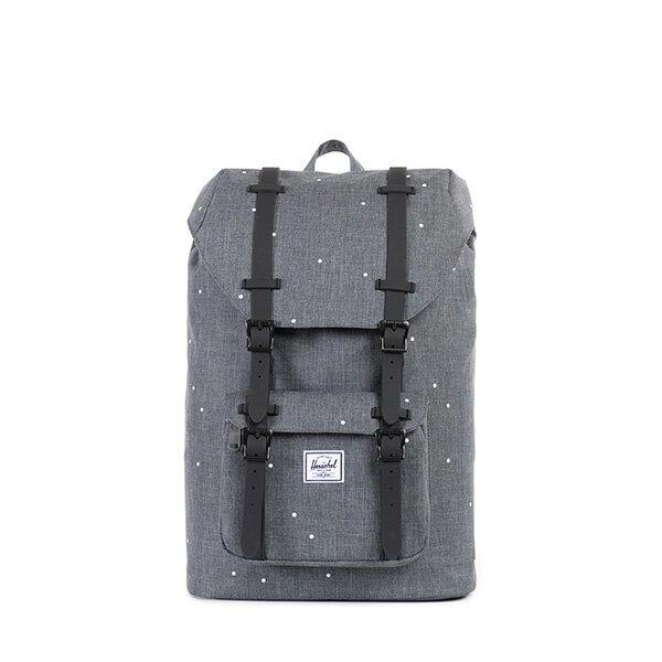 【EST】Herschel Little America Mid 中款 13吋電腦包 後背包 點點 灰 [HS-0020-756] F0810 0