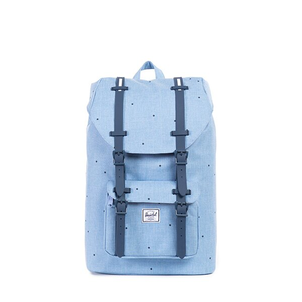 【EST】HERSCHEL LITTLE AMERICA MID 中款 13吋電腦包 後背包 點點 淺藍 [HS-0020-757] F0810 0