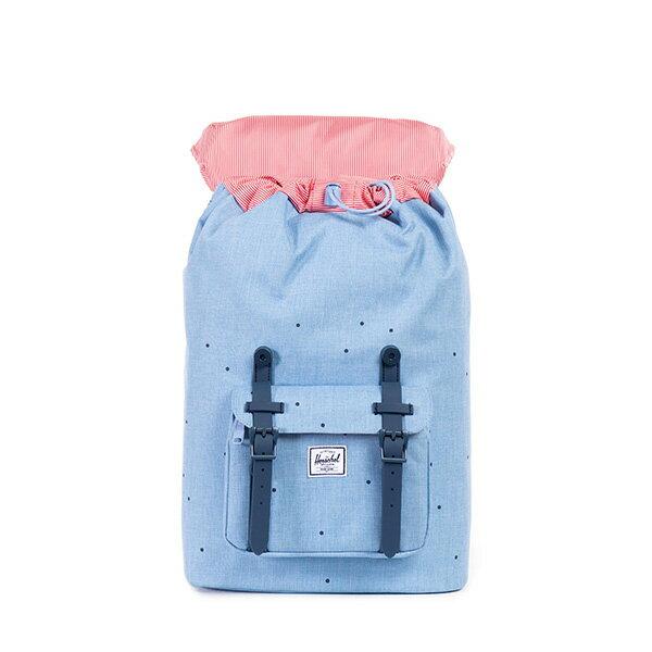 【EST】HERSCHEL LITTLE AMERICA MID 中款 13吋電腦包 後背包 點點 淺藍 [HS-0020-757] F0810 1