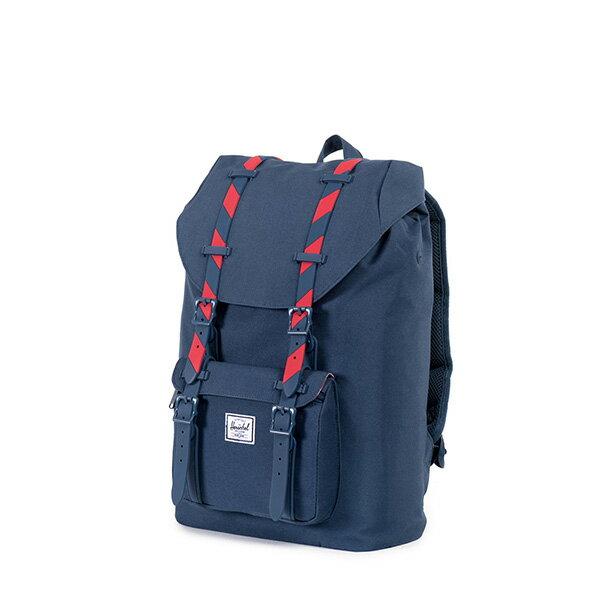 【EST】HERSCHEL LITTLE AMERICA MID 中款 13吋電腦包 後背包 斜紋 藍紅 [HS-0020-773] F0810 2
