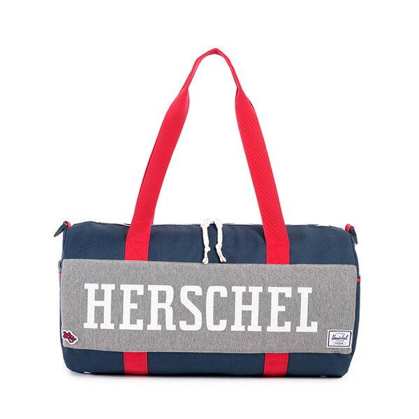 【EST】HERSCHEL SUTTON DUFFLE MID 中款 圓筒 肩背 手提袋 旅行包 藍紅 [HS-0024-725] F0810 0