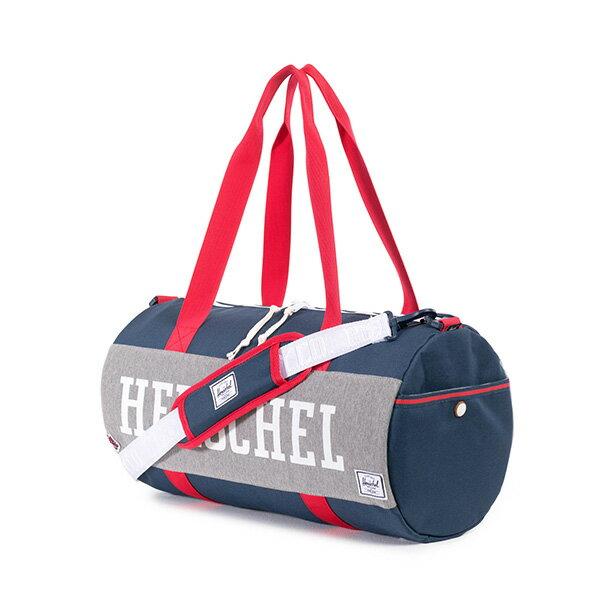 【EST】HERSCHEL SUTTON DUFFLE MID 中款 圓筒 肩背 手提袋 旅行包 藍紅 [HS-0024-725] F0810 1