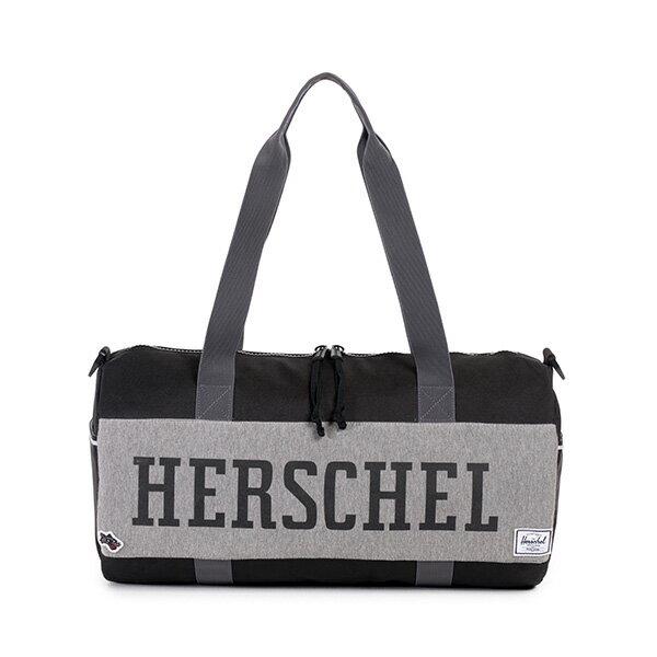 ★整點特賣限時5折★【EST】Herschel Sutton Duffle Mid 中款 圓筒 肩背 手提袋 旅行包 黑灰 [HS-0024-726] F0810【12/08憑優惠券代碼 SS_20161208。滿888再折100】 0