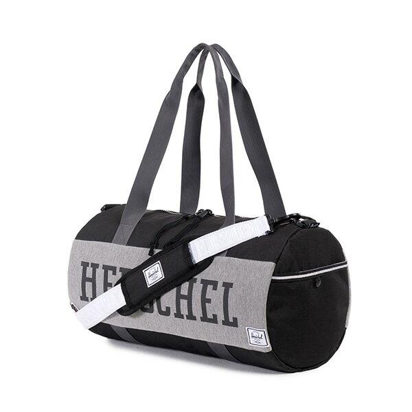 ★整點特賣限時5折★【EST】Herschel Sutton Duffle Mid 中款 圓筒 肩背 手提袋 旅行包 黑灰 [HS-0024-726] F0810【12/08憑優惠券代碼 SS_20161208。滿888再折100】 1