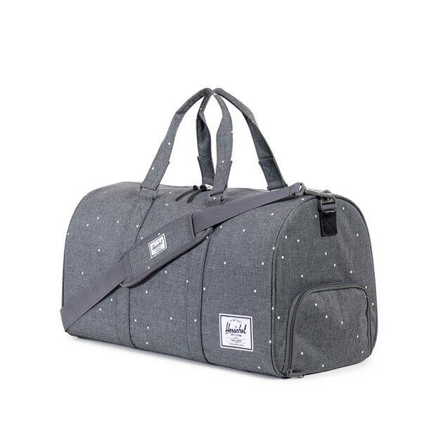 【EST】Herschel Novel 圓筒 多功能 鞋箱 手提袋 旅行包 點點 灰 [HS-0026-756] F0810 1