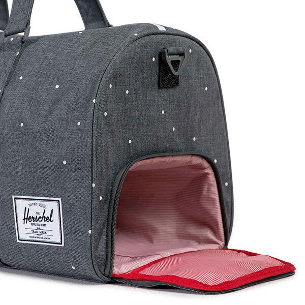 【EST】Herschel Novel 圓筒 多功能 鞋箱 手提袋 旅行包 點點 灰 [HS-0026-756] F0810 2