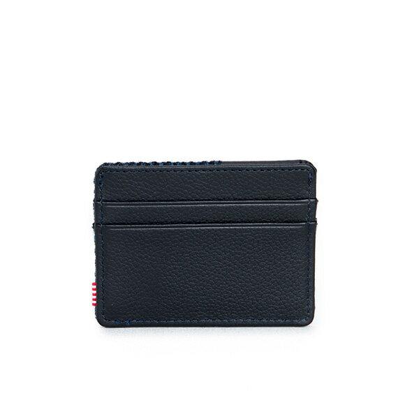 【EST】HERSCHEL CHARLIE 橫式 卡夾 名片夾 證件套 人字紋 藍 [HS-0045-878] F1019 1