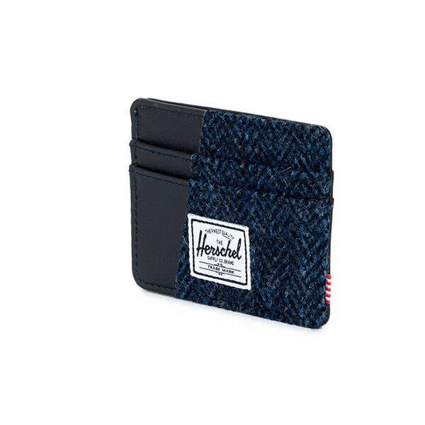 【EST】HERSCHEL CHARLIE 橫式 卡夾 名片夾 證件套 人字紋 藍 [HS-0045-878] F1019 2