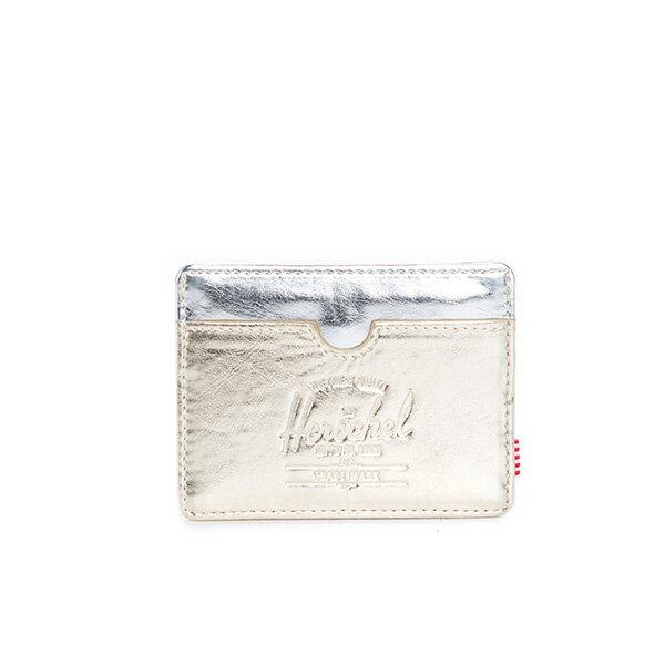 【EST】HERSCHEL CHARLIE 橫式 卡夾 名片夾 證件套 金銀 [HS-0045-879] F1019 0