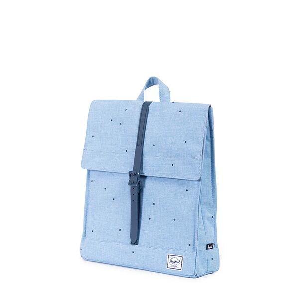【EST】HERSCHEL CITY 方形 後背包 點點 淺藍 [HS-0089-757] F0810 2