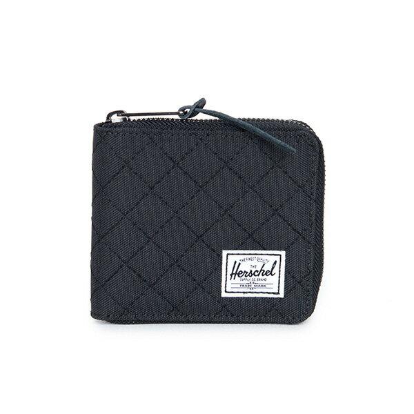 【EST】HERSCHEL WALT WALLET 拉鍊 短夾 皮夾 零錢包 菱格紋 黑 [HS-0153-866] F1019 0
