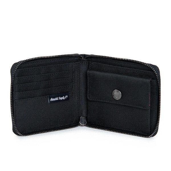 【EST】Herschel Walt Wallet 拉鍊 短夾 皮夾 零錢包 菱格紋 黑 [HS-0153-866] F1019 2
