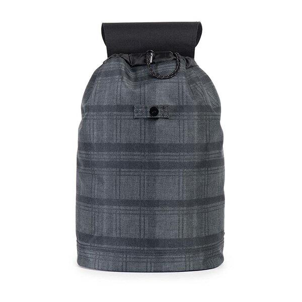 【EST】HERSCHEL REID 束口 扣式 後背包 格紋 黑 [HS-0182-754] F0810 1