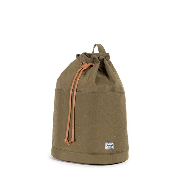 【EST】HERSCHEL HANSON 束口 水桶包 後背包 菱格紋 綠 [HS-0214-867] F1019 2