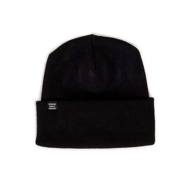 【EST】HERSCHEL FRANKFURT 針織 反摺 毛帽 黑 [HS-1002-001] F0819 - 限時優惠好康折扣