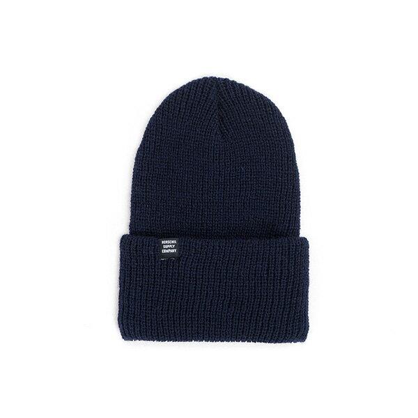 【EST】HERSCHEL QUARTZ 針織 反摺 毛帽 深藍 [HS-1003-004] F0819 - 限時優惠好康折扣