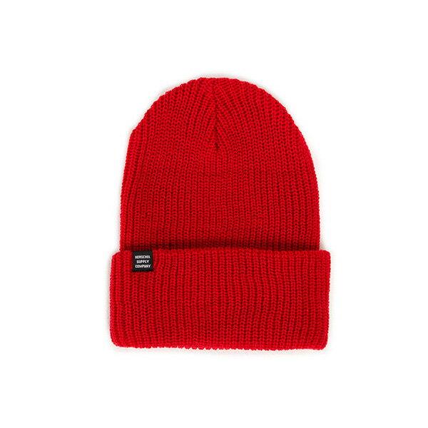 【EST】HERSCHEL QUARTZ 針織 反摺 毛帽 紅 [HS-1003-024] F0819 0