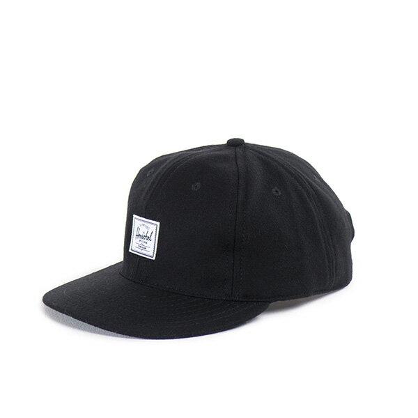【EST】HERSCHEL RUNDLE 羊毛 後調式 棒球帽 黑 [HS-1009-014] F0819 0