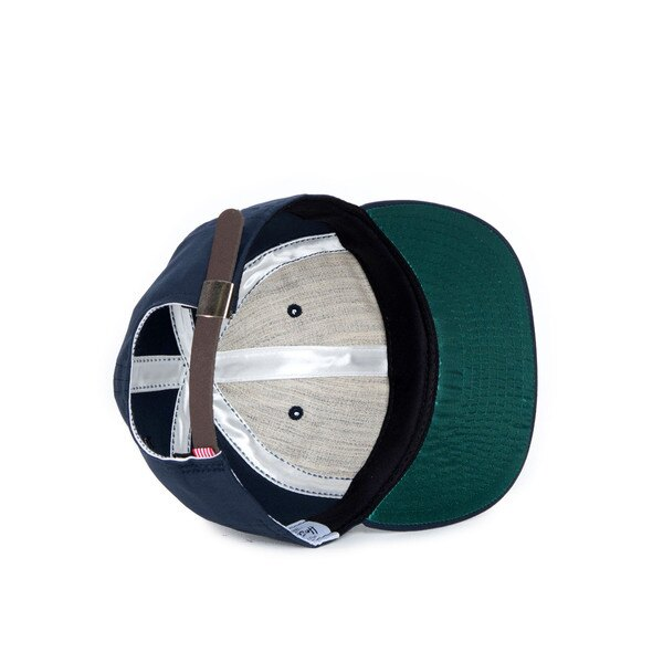 【EST】HERSCHEL WOODBINE 大H 後調式 棒球帽 深藍 [HS-1010-015] F0819 2