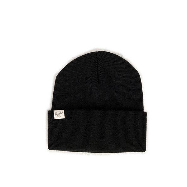 【EST】HERSCHEL FRANKFURT 經典款 針織 反摺 毛帽 黑 [HS-1012-001] F0819 0