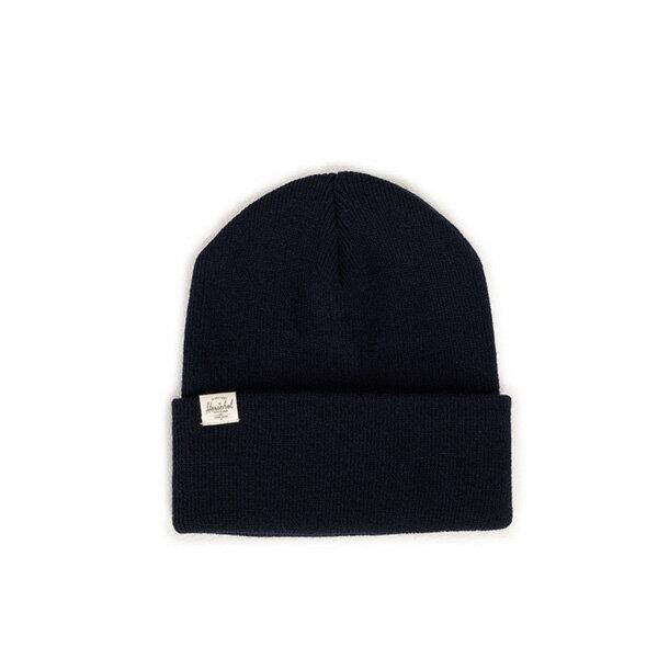 【EST】HERSCHEL FRANKFURT 經典款 針織 反摺 毛帽 深藍 [HS-1012-004] F0819 - 限時優惠好康折扣