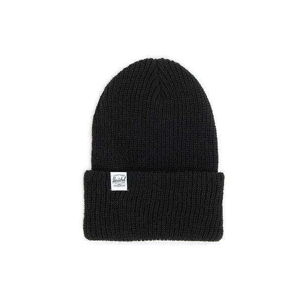 【EST】HERSCHEL QUARTZ 經典款 針織 反摺 毛帽 黑 [HS-1013-001] F0819 0