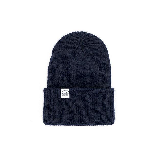 【EST】HERSCHEL QUARTZ 經典款 針織 反摺 毛帽 深藍 [HS-1013-004] F0819 - 限時優惠好康折扣