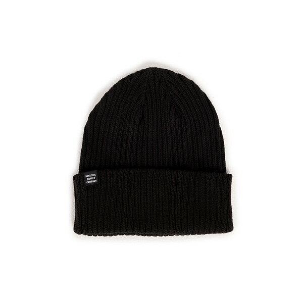 【EST】HERSCHEL SELKIRK 針織 反摺 毛帽 黑 [HS-1014-001] F1023 0