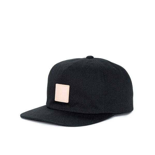 【EST】HERSCHEL NILES 皮革 後調式 五分割帽 棒球帽 黑 [HS-1022-001] F0819 0