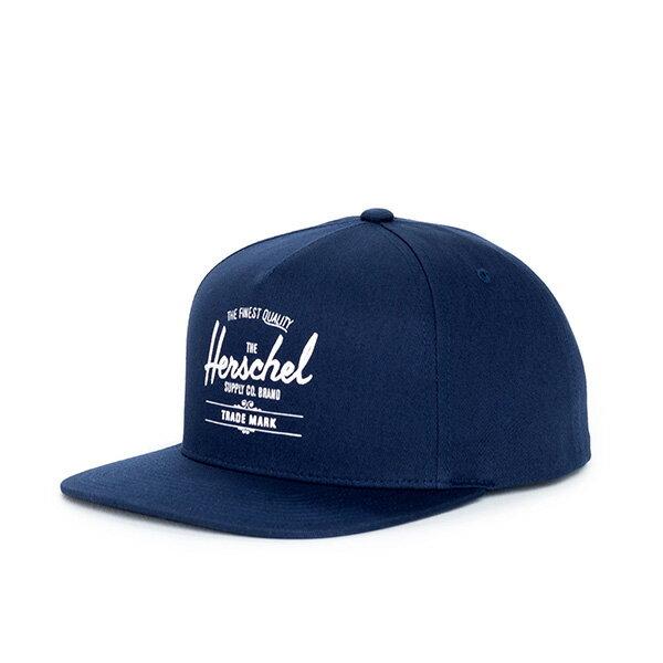 【EST】HERSCHEL WHALER 經典LOGO 後扣 棒球帽 深藍 [HS-1026-004] F0819 0