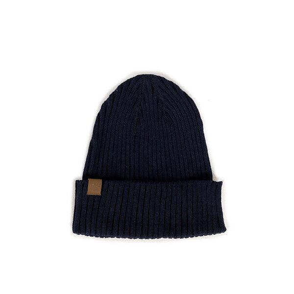 【EST】HERSCHEL CAST 針織 反褶 毛帽 深藍 [HS-1032-004] F0819 - 限時優惠好康折扣