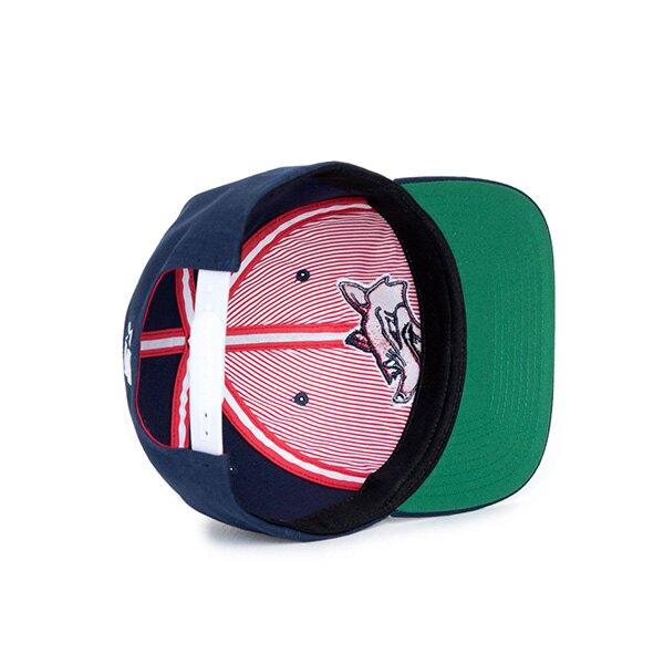 【EST】Herschel Team 刺繡 獵犬 後扣 棒球帽 藍 [HS-1038-099] F0819 2