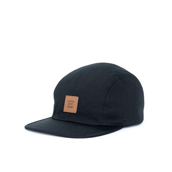 【EST】HERSCHEL OWEN LOGO 後調式 四分割帽 棒球帽 黑 [HS-1040-001] F0819 0