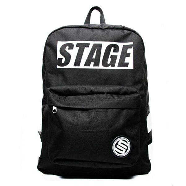 【EST】STAGE MONOCHROME BACKPACK LOGO後背包 黑 [SG-0300-489] F0923 0