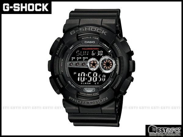 【EST O】G-Shock Baby-G Casio GD-100 卡西歐 防水 賽車 大錶面 手錶 [GD-100-1B] 黑 E0221 - 限時優惠好康折扣