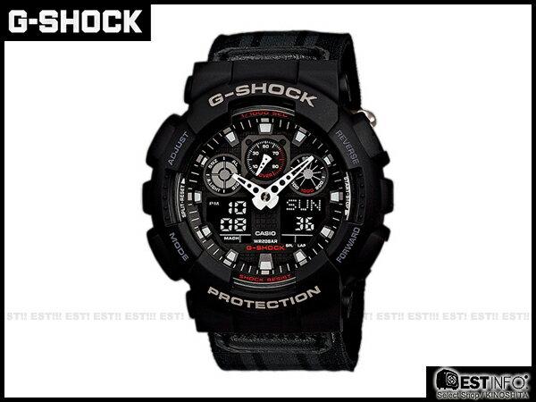 【EST O】G-SHOCK Baby-G CASIO GA-100 卡西歐 防水 大錶面 潮流 手錶 [GA-100MC-1A] 黑 E0221 0
