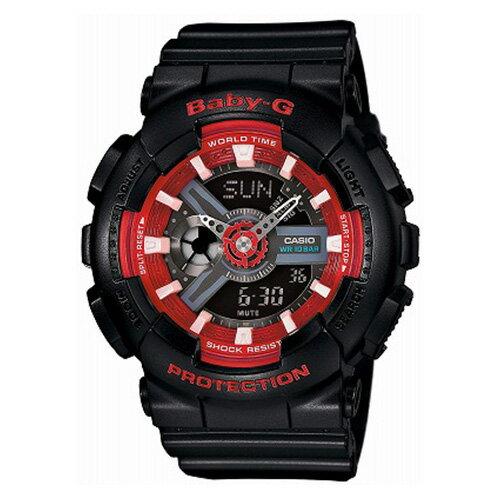 【EST O】G-Shock Baby-G 雙顯 指針 防水 手錶 [BA-110SN-1AJF] 黑紅 F0313 0