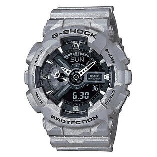 【EST O】G-SHOCK 雙顯 指針 防水 迷彩 手錶 [GA-110CM-8AJF] 淺灰 F0313