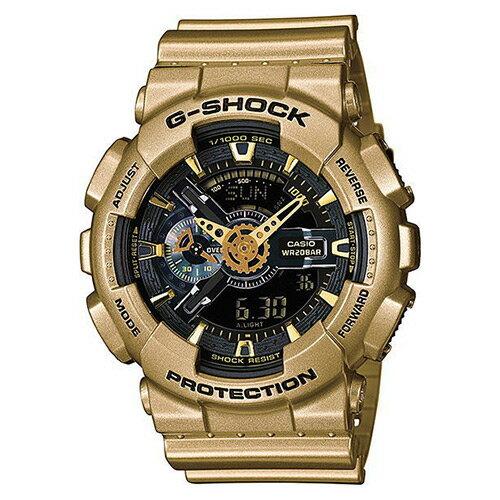 【EST O】G-Shock 雙顯 指針 防水 手錶 [GA-110GD-9BJF] 黑金 F0313 0