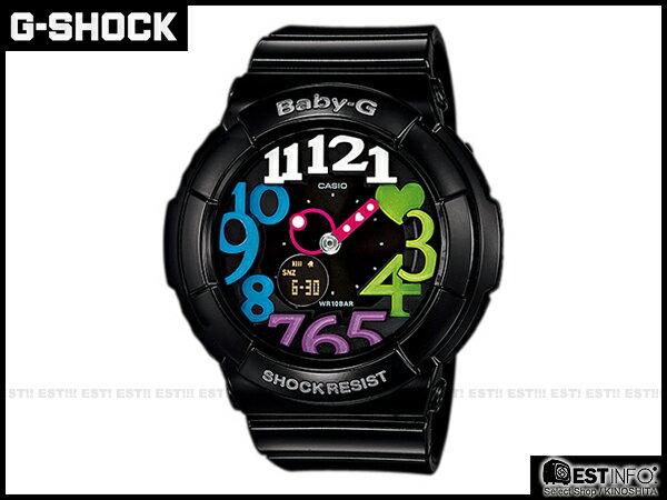 【EST O】G-SHOCK Baby-G CASIO BGA-131 卡西歐 夜光 女錶 手錶 [BGA-131-1B2 ] 黑 彩虹 E0221