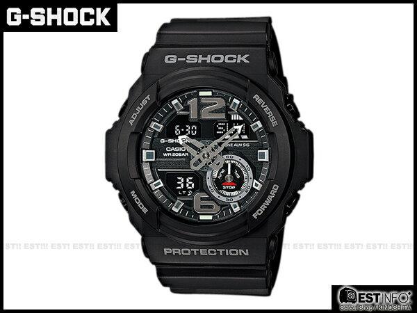 【EST O】G-SHOCK Baby-G CASIO GA-310 卡西歐 防水 賽車 大錶面 手錶 [GA-310-1A] 黑 E0221