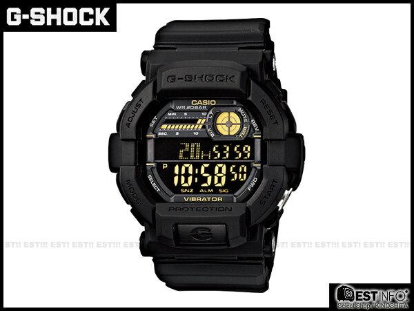 【EST O】G-Shock Baby-G Casio GD-350 卡西歐 防水 賽車 大錶面 手錶 [GD-350-1BJF] 黑 E0221 - 限時優惠好康折扣